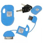 APPLE IPHONE 4G/4S USB ΦΟΡΤΙΣΤΗΣ-DATA ΜΠΡΕΛΟΚ VCD-04 BLUE VL