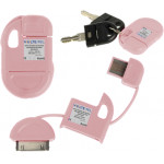APPLE IPHONE 4G/4S USB ΦΟΡΤΙΣΤΗΣ-DATA ΜΠΡΕΛΟΚ VCD-04 PINK VL