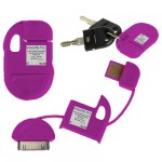 APPLE IPHONE 4G/4S USB ΦΟΡΤΙΣΤΗΣ-DATA ΜΠΡΕΛΟΚ VCD-04 PURPLE