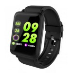 COLMI SMARTWATCH ΕΓΧΡΩΜΗ ΟΘΟΝΗ HEART RATE/BLOOD PRESURE ΜΑΥΡΟ - (CLM-M28)