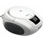 CRYSTAL AUDIO CD/MP3/FM/USB PLAYER WHITE - (BMBU2W)