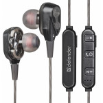 DEFENDER WIRELESS STEREO BLUETOOTH 2 DRIVERS HANDSFREE FREEMOTION B640 black - (63641)
