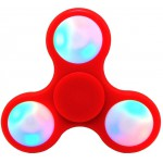 FIDGET SPINNER ABS PLASTIC LED 3 LEAVES ΚΟΚΚΙΝΟ 2.5 MIN