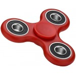 FIDGET SPINNER FS-008, PLASTIC, 3 LEAVES ΜΕ BEARINGS, RED, 1 MINUTE