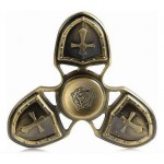 FIDGET SPINNER METAL MEDIEVAL 3 LEAVES ΧΡΥΣΑΦΙ 4 MIN OEM