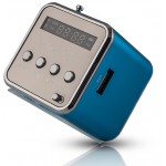 FOREVER SPEAKER MF-100, PORTABLE, FM RADIO, MICROSD, COLOR LED, BLUE