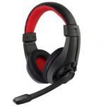 GEMBIRD GAMING HEADSET WITH VOLUME CONTROL BLACK/RED - (GHS-01)