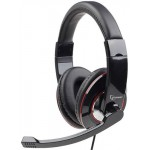 GEMBIRD STEREO HEADSET GLOSSY BLACK MHS-001 - (8716309079495)