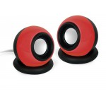 GEMBIRD STEREO SPEAKER SPHERE 3,5MM JACK BLACK RED - (8716309089715)