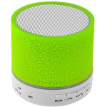 LAMTECH BLUETOOTH SPEAKER LED LIGHT WITH FM GREEN - (LAM020267)