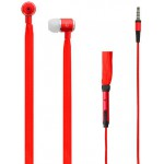 LAMTECH SHOELACE EARPHONES WITH MIC 3,5MM JACK RED - (LAM020335)