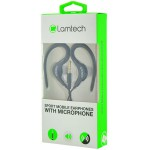 LAMTECH SPORT MOBILE EARPHONES WITH MIC BLACK - (LAM020212)