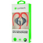 LAMTECH SPORT MOBILE EARPHONES WITH MIC RED - (LAM020236)