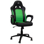 LC-POWER GAMING CHAIR BLACK/GREEN - (LC-GC-4G)