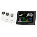LIFE CONTINENTAL QUAD DISPLAY WEATHER STATION WITH 3 OUTDOOR SENSORS - (221-0191)