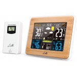 LIFE RAINFOREST BAMBOO EDITION WEATHER STATION WITH ADAPTOR & WIRELESS OUTDOOR S - (221-0119)
