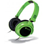 MELICONI 497436 MYSOUND SPEAK SMART FLUO VERDE-NERO ON-EAR STEREO HEADSET
