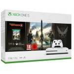 MICROSOFT XBOX ONE S WHITE 1TB & THE DIVISION 2 - (234-00881)