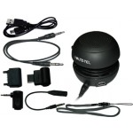 MULTIMEDIA SPEAKER VOLTE-TEL VT-150B MINI BLACK 4 ADAPTORS