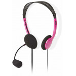 NEDIS PC Headset On-Ear 2x 3.5 mm Connectors 2.0 m Pink - (CHST100PK)
