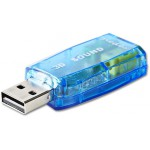 NEDIS SOUND CARD 3D SOUND 5.1 USB 2.0 DOUBLE 3.5MM CONNECTOR - (USCR10051BU)