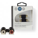NEDIS STEREO AUDIO ADAPTER 2X RCA FEMALE-2X RCA FEMALE - (CABW24952AT)