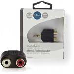 NEDIS STEREO AUDIO ADAPTER 3.5 MM MALE-2X RCA FEMALE - (CABW22940AT)