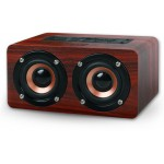 NOD CONCERTO BLUETOOTH WOODEN SPEAKER 2X5W BROWN RED - (BTS-300)