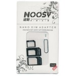 NOOSY NANO SIM & MICRO SIM ADAPTER SET BLACK