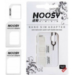 NOOSY NANO SIM & MICRO SIM ADAPTER SET WHITE