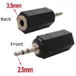 POWERTECH ADAPTER ST 2.5MM M/F 3.5MM - NIKEL - (CAB-J014) , 5ΤΕΜ - (CAB-J014)