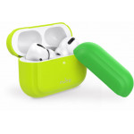 Puro Silicon Case ICON FLUO For AirPods Pro With Additional Cap Κίτρινο - (APPROCASE1FLUOYEL)