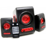 SONIC GEARS USB POWERED XTREME BASS SPEAKERS 2,1 BLACK FESTIVE RED QUATROVBFR - (8886411908249)