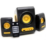SONIC GEARS USB POWERED XTREME BASS SPEAKERS 2,1 BLACK SUNNY ORANGE QUATROVBSO - (8886411908225)
