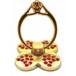 STAND & HOLDER RING GOLDEN CLOVER RED STRASS OEM