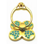 STAND & HOLDER RING GOLDEN CLOVER TEAL STRASS OEM