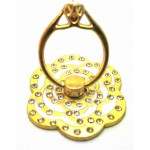 STAND & HOLDER RING GOLDEN FLOWER WHITE STRASS OEM