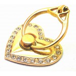 STAND & HOLDER RING JEWEL GOLDEN HEART STRASS OEM