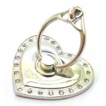STAND & HOLDER RING JEWEL SILVER HEART STRASS OEM
