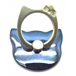 STAND & HOLDER RING KITTY BLUE/GREY METALLIC OEM