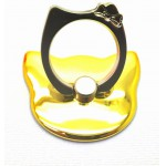 STAND & HOLDER RING KITTY METTALIC YELLOW OEM