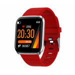 SW AID116 PRO SMART WATCH FITNESS silver red - (SWAID116PGR)