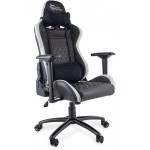 WHITE SHARK GAMING CHAIR NITRO-GT BLACK & WHITE - (NITROGT)