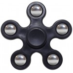 FIDGET SPINNER ABS PLASTIC 5 LEAVES ΜΑΥΡΟ 2.5 MIN OEM