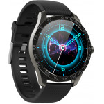 HIFUTURE Smartwatch SAVVY KW35 IP68 heart rate monitor μαύρο - (KW35-BK)