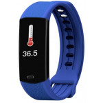 LAMTECH BODY TEMPERATURE DETECTION SMART WRISTBAND WITH HEART RATE MONITOR BLUE - (LAM021431)