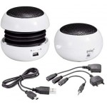 MULTIMEDIA SPEAKER SOUNDBALL ΑΣΠΡΟ+ADAPTOR S.ER.K750/N.7210/V66