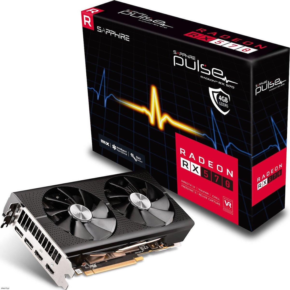 SAPPHIRE RADEON PULSE RX 570 OC 4GB - (11266-67-20G ...