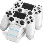 SNAKEBYTE PS4 DUAL CHARGING STATION WHITE - (SB911729)