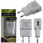 USB TRAVEL CHARGER MINI VOLTE-TEL VTU15 1500MA WHITE